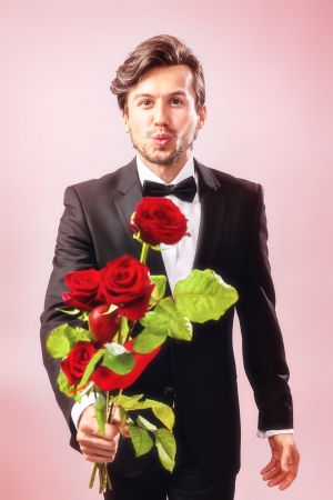 zest for life: Man in love with roses