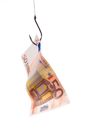50 Euro hook Stock Photo