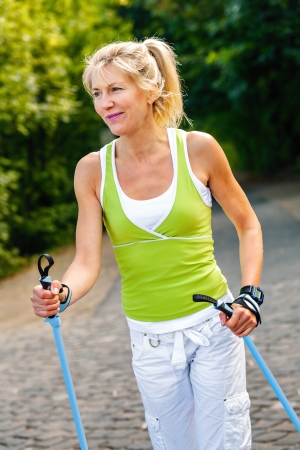senior nordic walking photo