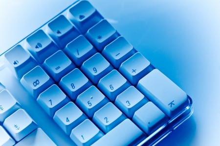 teclado numérico: Teclado numérico Azul