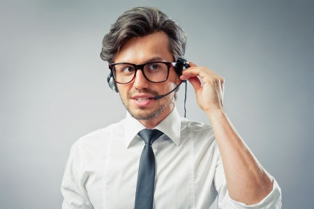 business man with headset photo