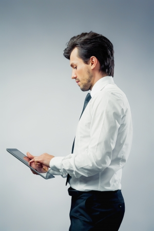 office worker using a touchpad  photo