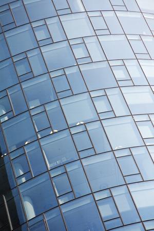 Glass facade of an office Stock Photo