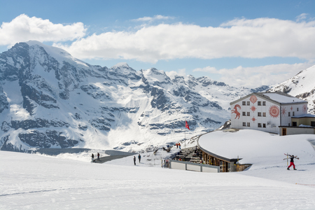 ski walking: Winter time on Diavolezza, Switzerland