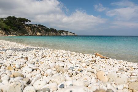 elba: Beautiful pebble beach on Elba island in Italy Stock Photo