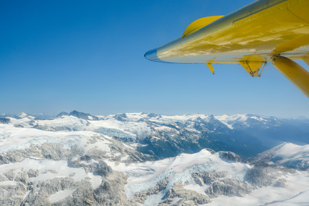 Aerial view on Coast mountains near Whistler, Canada