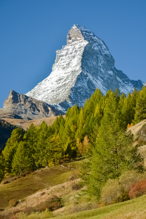 Matterhorn, probably the most famous mountain in Switzerland