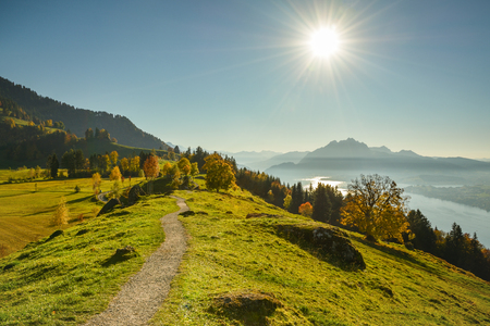 Amazing autumn hike on Seebodenalp. Views on Alps, Pilatus and Lake Lucerne like never before