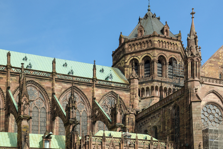 Strasbourg Cathedral, one of the most visited places in Strasbourg, France