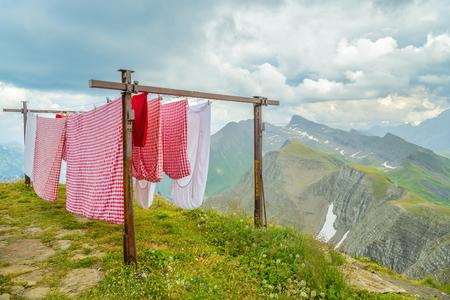 Wäscherei auf dem Faulhorn-Gipfel in den Schweizer Alpen
