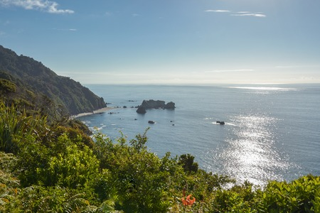 Pacific coast as seen from Knights Point Lookout in West Coast, New Zealand