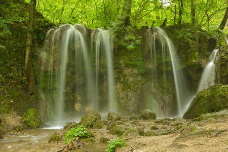 Beautiful Haj waterfall close to village of Haj in Slovak Karst mountains, Slovakia Stock Photo