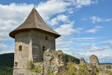 Castle Somoska on borders between Slovakia and Hungary close to city Filakovo