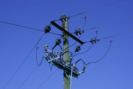 utility pole: Electric Power Cables
