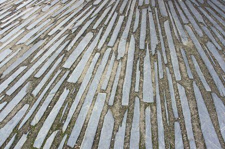 Unusaul slate path found in wales