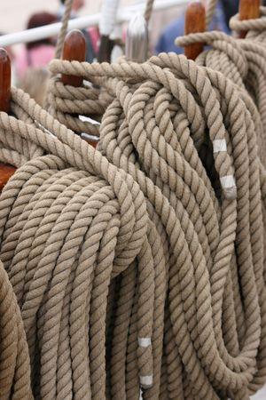 Nautical rigging rope Stock Photo