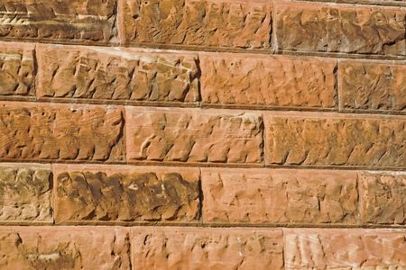 Sandstone blocks used in the construction of a bridge Stock Photo