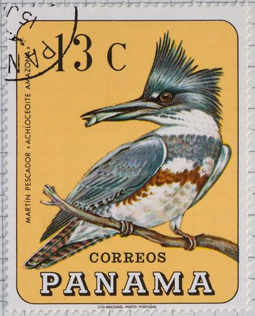 Vintage postage stamp from Panama Stock Photo - 4096457