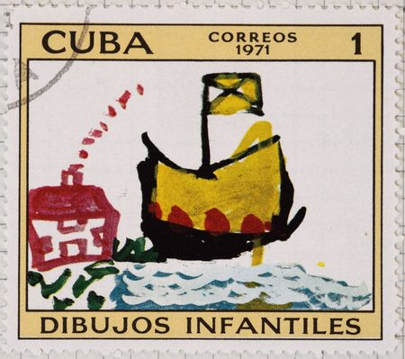 Vintage postage stamp from Cuba Stock Photo - 4096455
