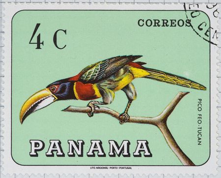 Vintage postage stamp from Panama Stock Photo - 4096458