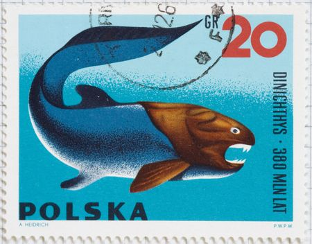 Vintage postage stamp from Poland Stock Photo
