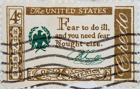 Vintage USA  postage stamp Stock Photo - 4147456