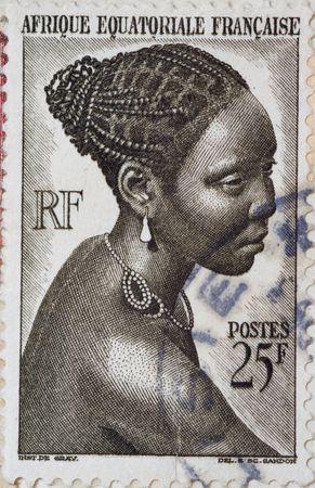 Vintage postage stamp from France