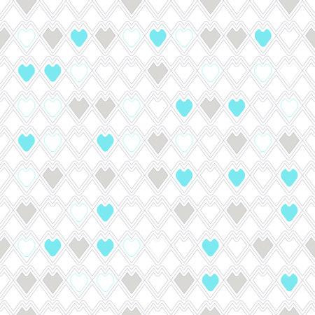 heart seamless pattern: heart  seamless pattern on white background Stock Photo