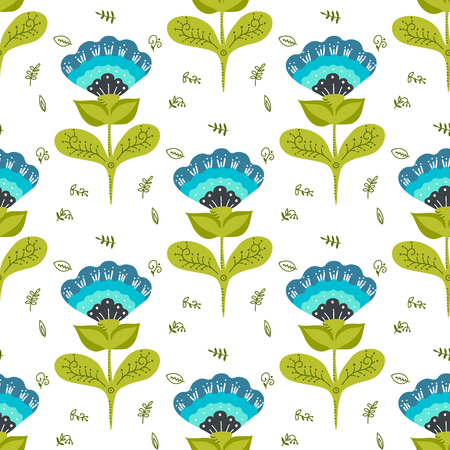 simple flower: simple flower on white background seamless pattern
