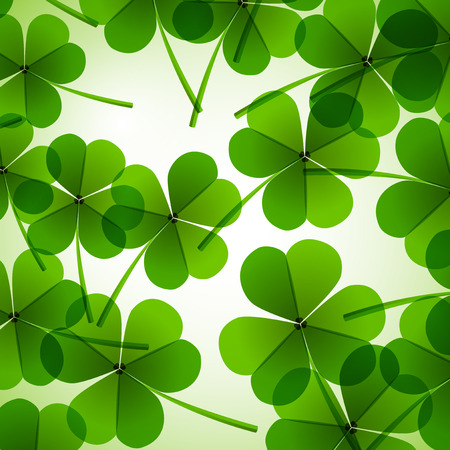 Fresh green leafs clover on a tender blurred background Stock Photo