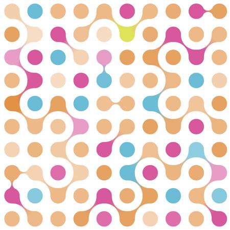 플랫 여러 가지 빛깔의 분자 원활한 패턴