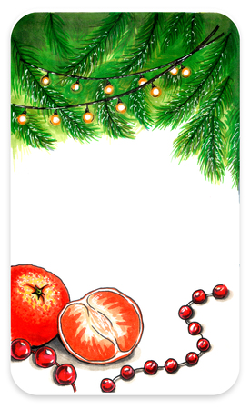 Empty template card for New Year Stock Photo