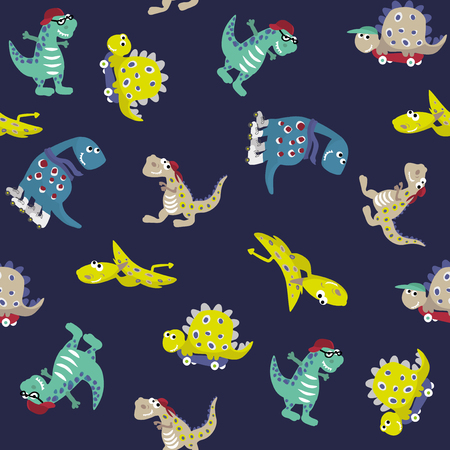 Dino pattern. Seamless vector pattern. Illustration