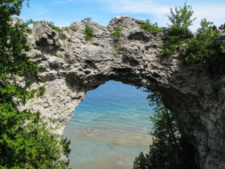 Naturally formed archway in between rock