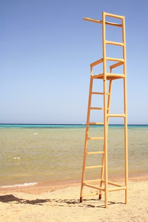 baywatch:  Life guard seat  Stock Photo