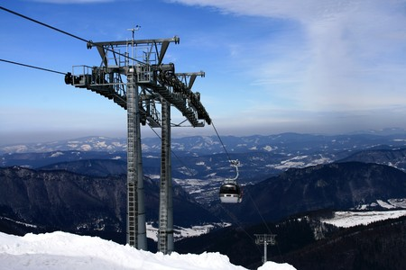 frost bound:  Cable car