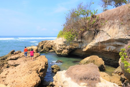 amanda: Beautifull Scenery at Amanda Ratu, Sukabumi, West Java, Indonesia Stock Photo
