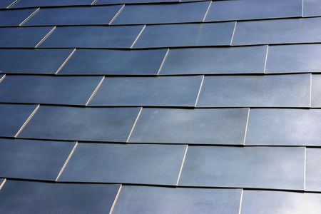 Square tiled metal reflecting background Stock Photo - 1327767