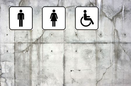 Male, female and disabled toilet signs Stock Photo - 1327769