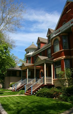 Red brick houses in Oak Park, Chicago, Illinois photo