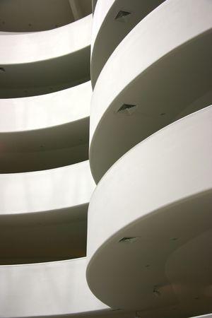 descending: Descending spirals detail at Guggenheim museum, New York Stock Photo