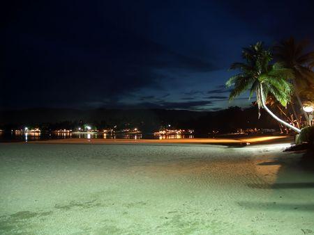 Strand bei Nacht auf Ko Samui, Thailand  Lizenzfreie Bilder