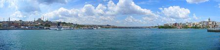 Golden Horn Panorama-Blick von Galata-Brücke, Istanbul  Lizenzfreie Bilder