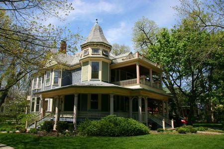 Wooden house in Oak Park, Chicago, Illinois photo