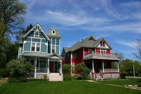 Wooden houses in Oak Park, Chicago, Illinois