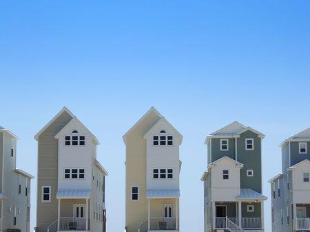 row houses: Pastello colorato riga case in Florida