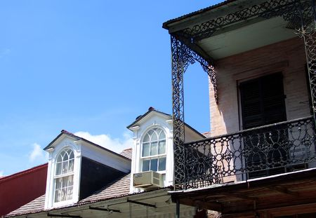 Balcony in french quarter, New Orleans photo