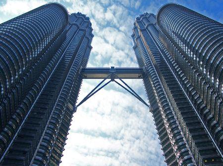 Twin Towers in Kuala Lumpur, Malaysia.
