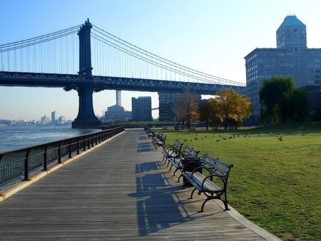 Empire-Fulton Ferry State Park and Manhattan Bridge, New York photo