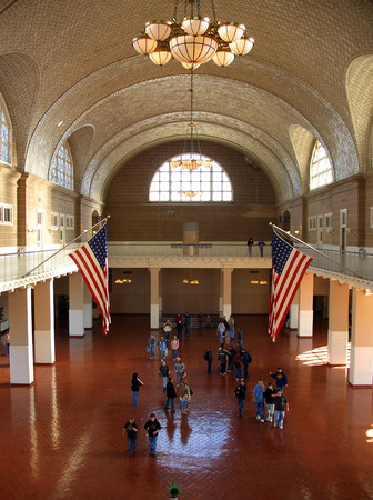 ellis: Ellis Island main hall, New York Stock Photo